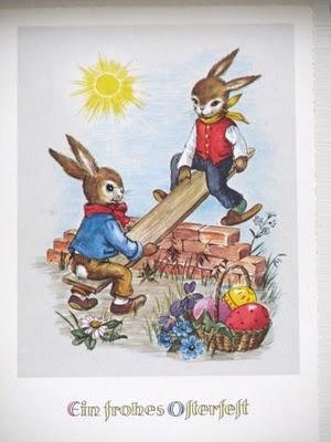 Old German Easter Card