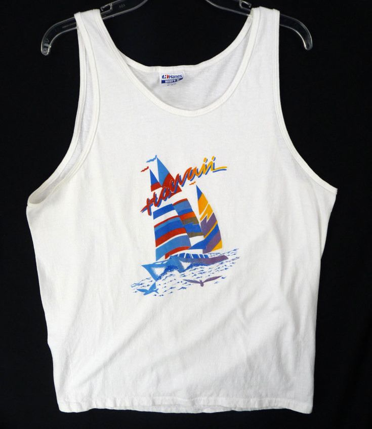 1990's Vintage XL Novelty Surfer Tee Shirt Tank Top Men's or Women's