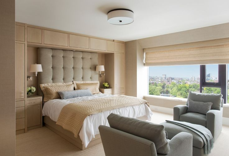 Elegant Bed with Overhead Storage