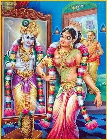Sri Andal with Lord Vishnu