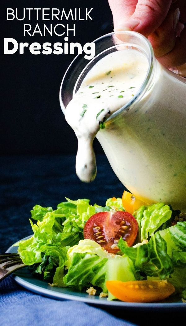 Homemade Buttermilk Ranch Dressing Recipe Ranch Dressing Buttermilk Ranch Dressing Easy Homemade Ranch Dressing
