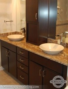 transitional vessel sinks for bathrooms look so pretty and elegant theyre a design - Bathroom Designs Vessel Sinks