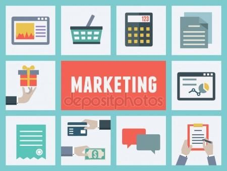 Concepto de vector de análisis e investigación de mercados. compras por Internet - proceso de pedidos y entregas. diseño de estilo plano Ilustración De Stock