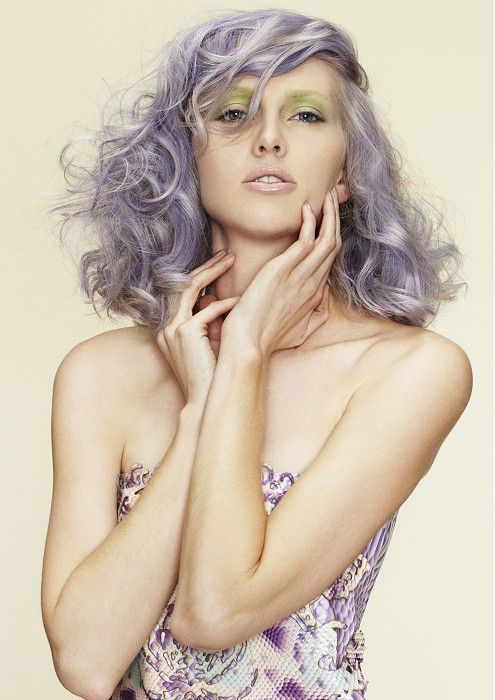 Jo Bellamy - long grey curly hair styles (21205) Visit us for #hairstyles and #hair advice at www.ukhairdressers.com