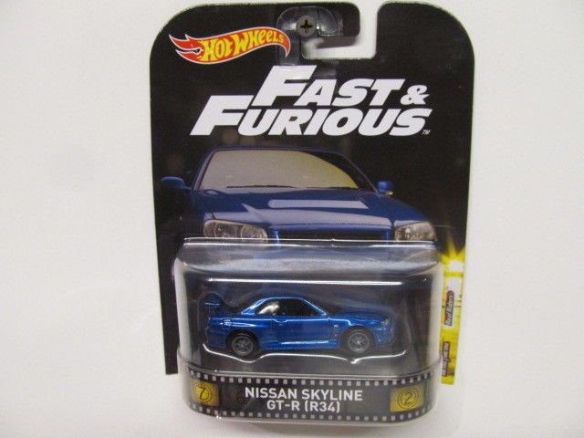 Cool Awesome Hot Wheels  Fast & Furious - Blue Nissan Skyline GT-R (R34)  w/ Real Rider Tires 2017/2018
