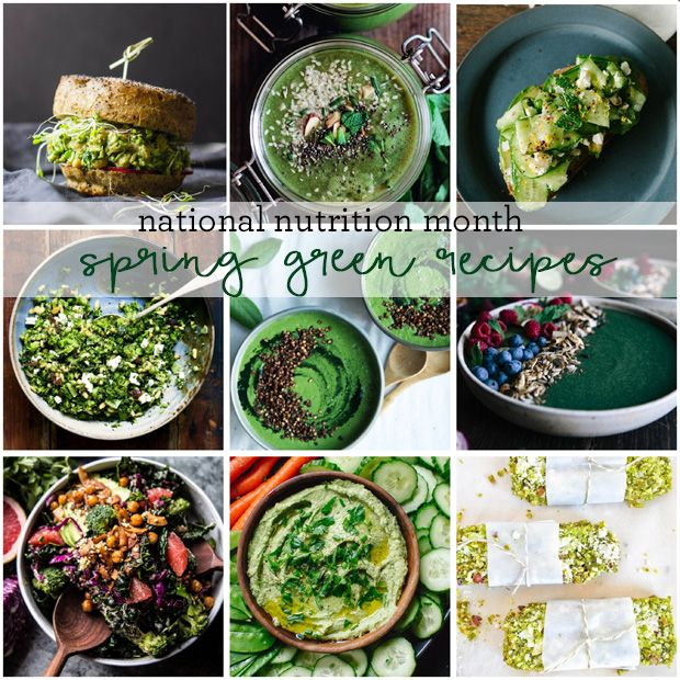 National Nutrition Month Spring Green Recipes