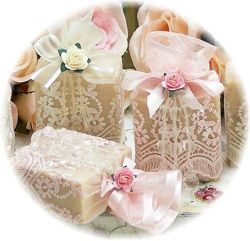 Favors for a Victorian Baby Shower or a High Tea Bridal Shower, Christening, Communion
