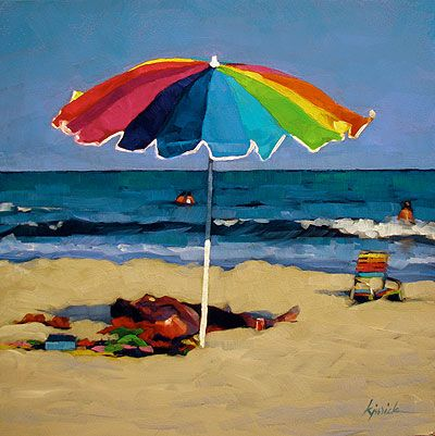 karin and umbrella Karin olah, cloud hover description: exclusive to one kings lane: transporting the viewer to an empty stretch of beach, this work from karin olah was originally created with textiles and multiple paint mediums, which gives it an impressive depth and texture.