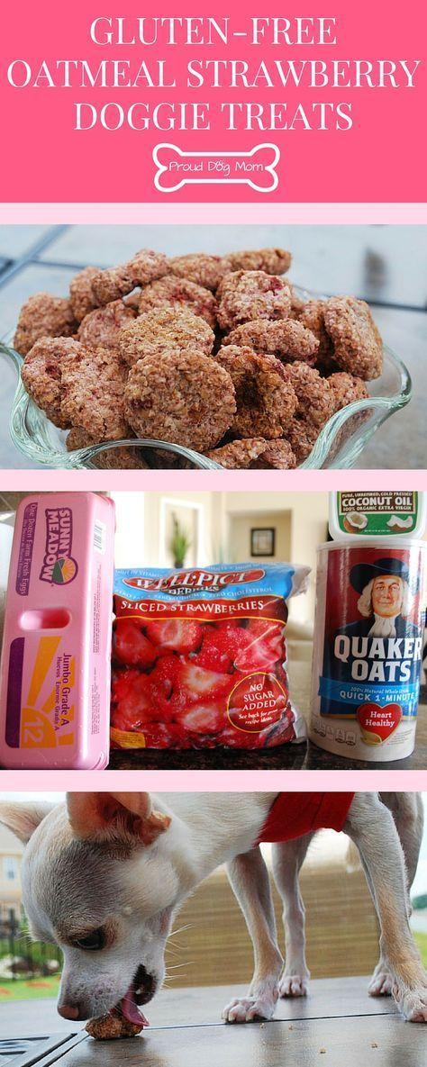 Gluten-Free Oatmeal Strawberry Doggie Treats   Homemade Healthy Dog Treats   DIY Dog Treats   Gluten-Free Recipes  