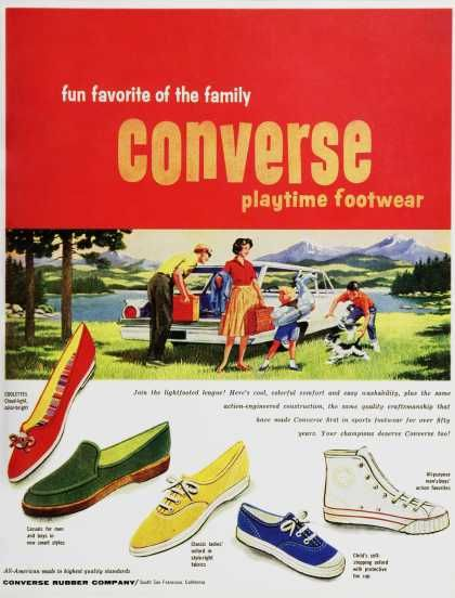 Vintage converse ad from back in the day when you only had one pair of gym shoes.