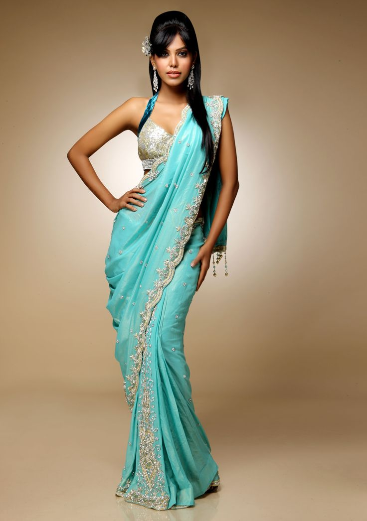 Modern Day Mermaid In A Saree Indian Glamour