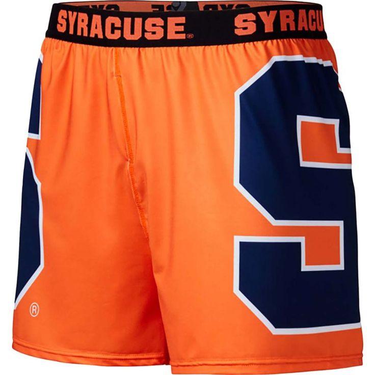 Fandemics Men's Syracuse Orange Orange Center Seam Base Layer Boxers, Team