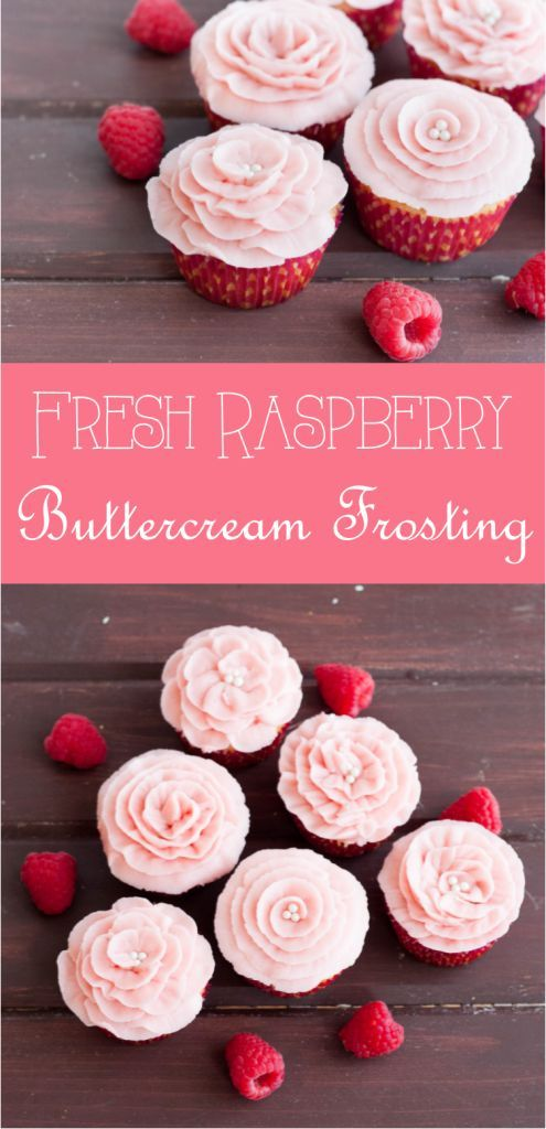 The perfect buttercream for decorating, this raspberry buttercream recipe uses fresh raspberries for a not-too-sweet flavor equally pleasing to kids and adults! Recipe on GoodieGodmother.com:
