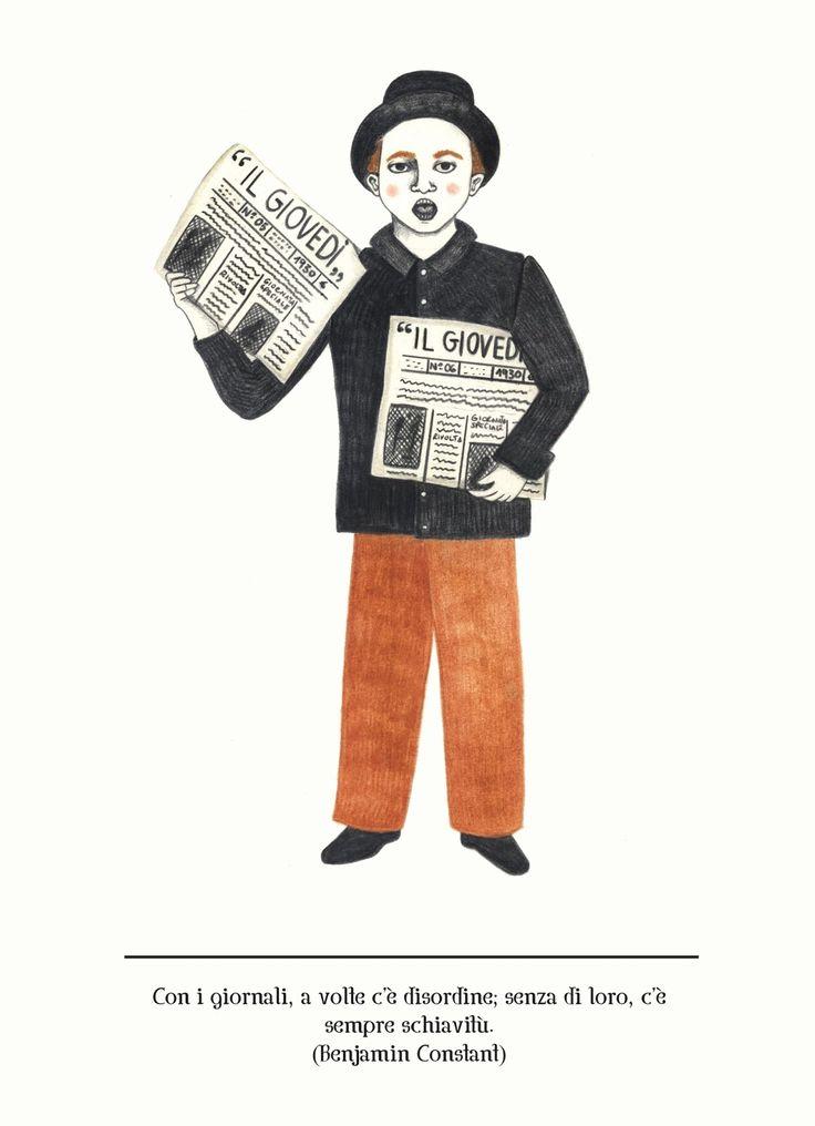 #allestudio #newsagent #ambulant #newspaper #illustration #italy