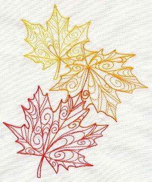 Delicate Autumn Leaves design (UT5260) from UrbanThreads.com  I love Urban threads