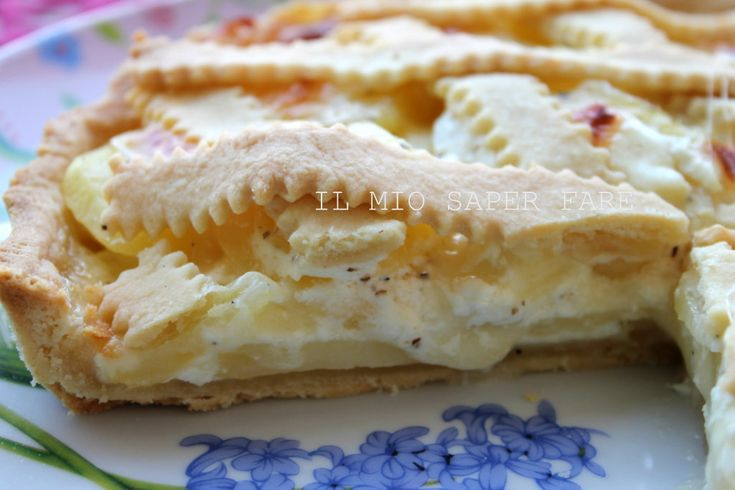 Crostata con patate e formaggio Asiago | ricetta salata