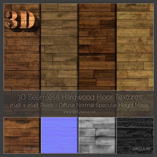 TRU Textures - 40 Seamless Hardwood Texture Diffuse Normal Specular Height Maps 3D Professional Version