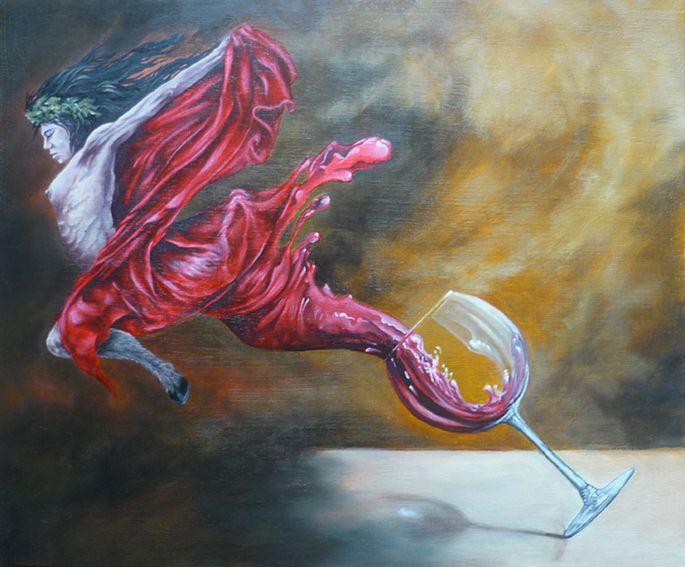 """"""" évasion d'une bacchante """" huile sur toile https://www.facebook.com/albo.arts"""