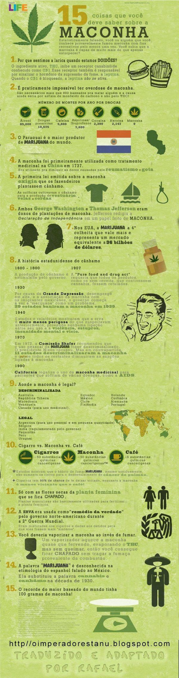 15 verdades sobre a maconha!