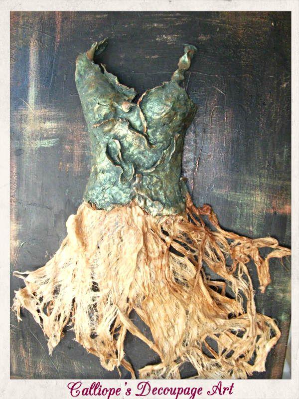 Ώρα για Έμπνευση: Μεικτές Τεχνικές σε Καμβά | Calliope's Decoupage Art