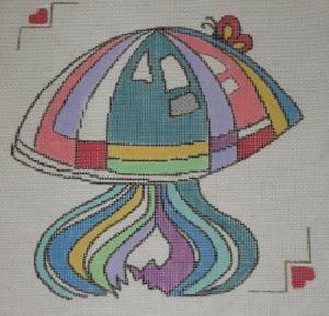 Sasi Creations Inc. 'Shroom One 3238 3 Needlepoint Canvas
