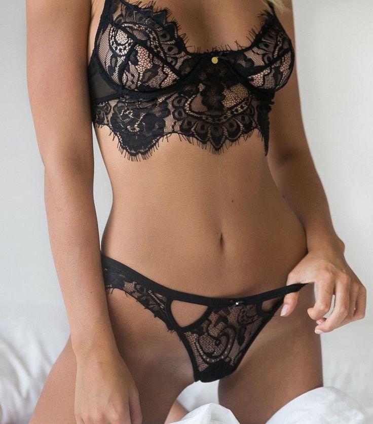 Sexy Lingerie Hot Black Lace Temptation White Bikini Lingerie Set