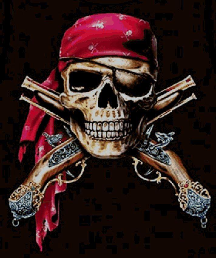SkuLL & Muskets Pirate Cross Stitch Pattern***L@@K***  ~~ I SEND WORLD-WIDE ~~Free
