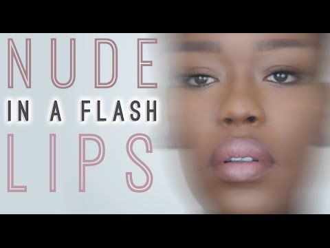 Peachy Nude Pouty Ombre Lips for Dark Skin #15SecondFierce - YouTube