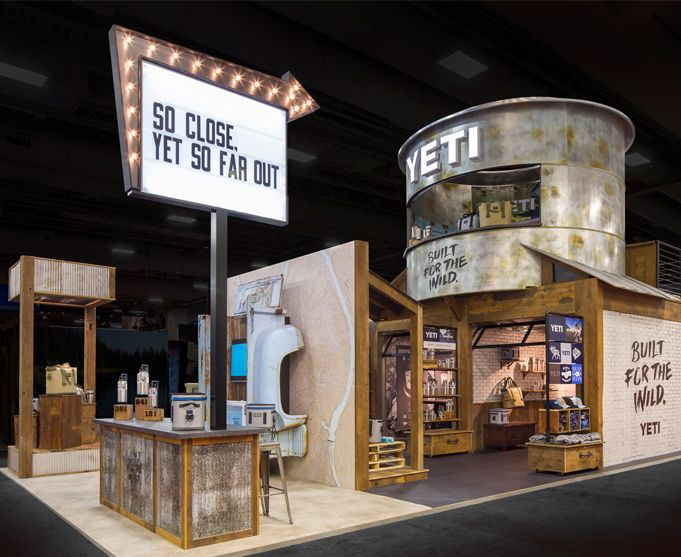 yeti coolers new custom tradeshow exhibit at outdoor retailer trade show booth designtrade