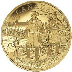 2016 $200 pure gold coin - great Canadian explorers series: Pierre Gaultier de la Vïrendrye