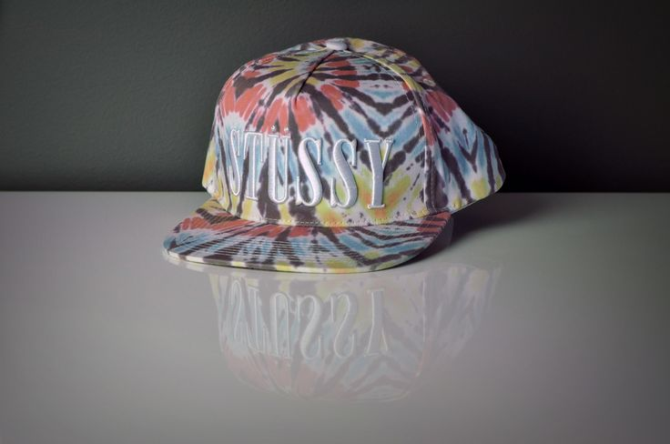Tie Dye Flat Peak Six Panel Sublimation Print