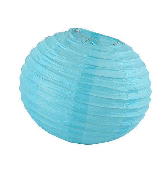 10 inch/25cm Light Blue Paper Lantern for Weddings, Engagements, Parties, Celebrations etc