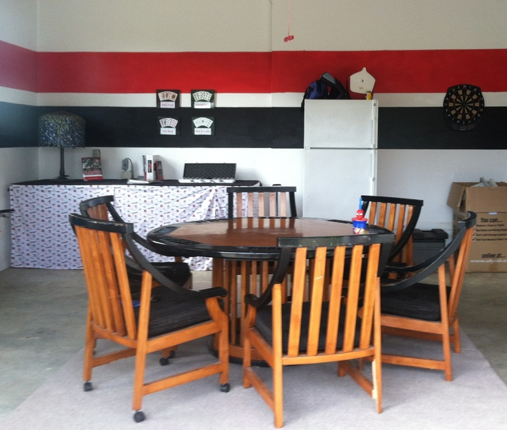 Garage Turned Into Game Room: Poker Room ( Converted Garage)