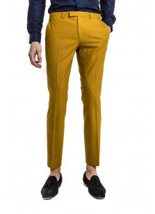 Ellroy Skinny Stretch Trouser Mustard