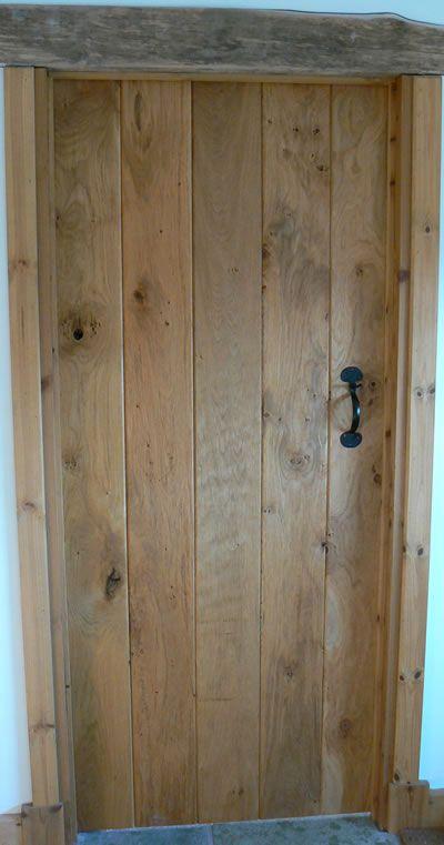 Handmade oak door - front