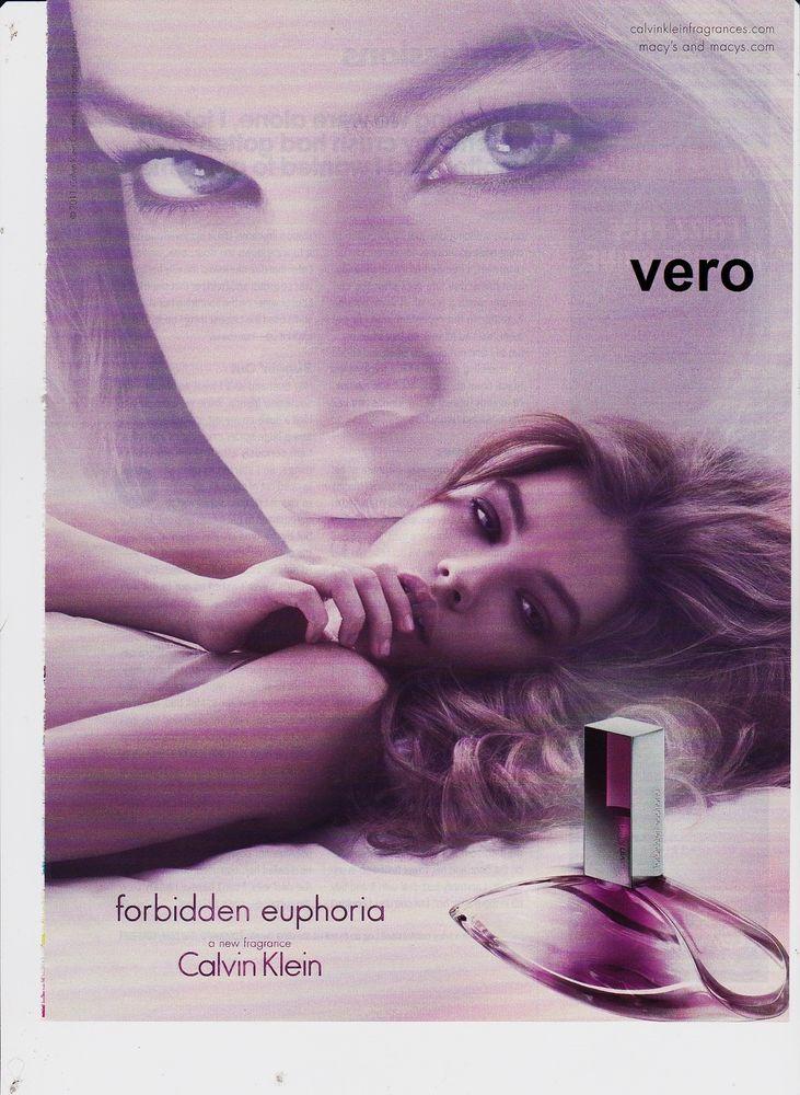 Calvin Klein Forbidden Euphoria 2011 Magazine Ad Print