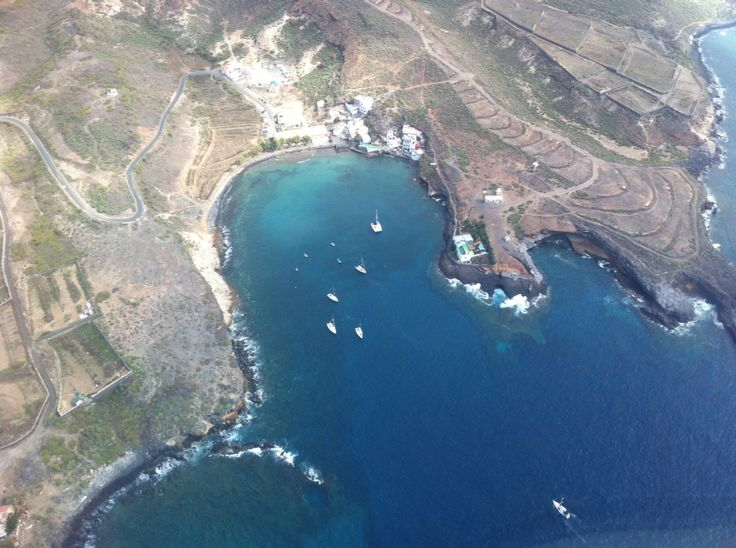 Puertito de Armeñime Adeje from Helicopter today