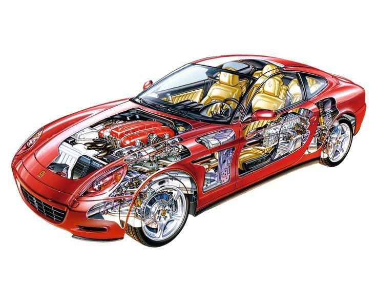 2004 11 Ferrari 612 Scaglietti   Illustrator Unknown