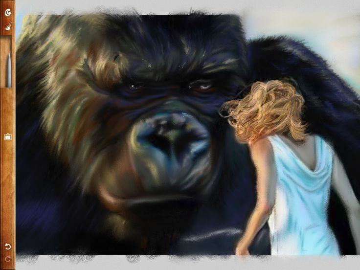 'King Kong' painted in pastel.