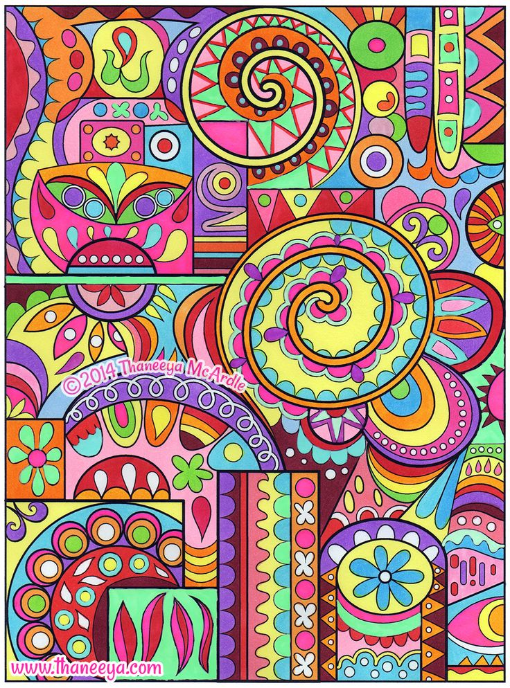 art from groovy abstract coloring book by thaneeya mcardle httpwwwamazon
