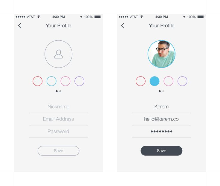 Your Profile iOS 7 by Brian Plemons