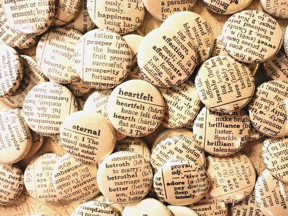 Handmade Wedding Favors 1 Inch Pinback Buttons by buttonempire, $