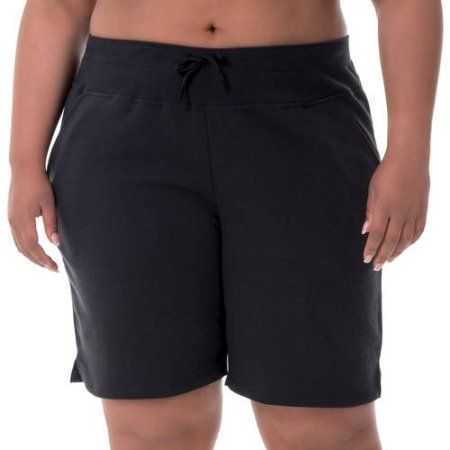Fit for Me by Fruit of the Loom Women's Plus-Size Bermuda Short, Size: 2XL, Black