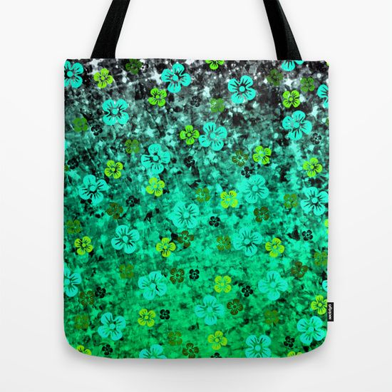 """""""Luck of the Irish"""" by Ebi Emporium on Society 6, St. Patrick's Day Canvas Tote Bag, Colorful Fine Art Abstract Floral Pattern Whimsical Design, St. Paddy's Day, Emerald Lime Mint Kelly Green Ombre Four Leaf Clover, Shamrock Ireland #floral #pattern #ombre #art #flowers #shamrock #Irish #Ireland #StPaddysDay #StPatricksDay #ToteBag #ShoulderBag #CanvasTote"""