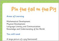 Pin the Tail on the Pig – Three Little Pigs Activity