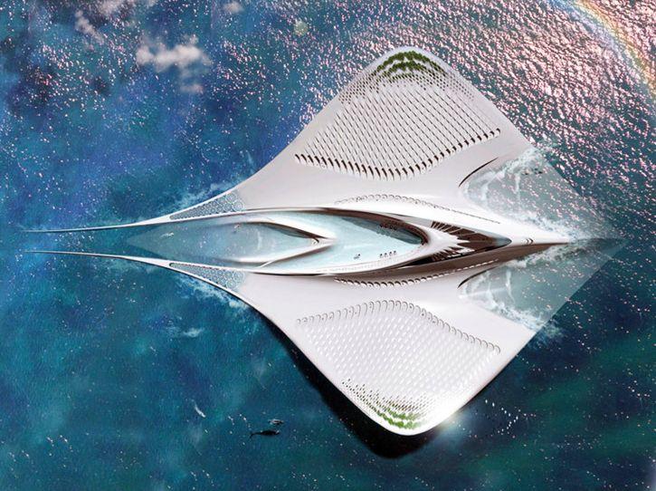 La Cité des Mériens, le projet fascinant et 100% autonome d'un architecte français, SeaOrbiter-jacques-rougerie #construiretendance
