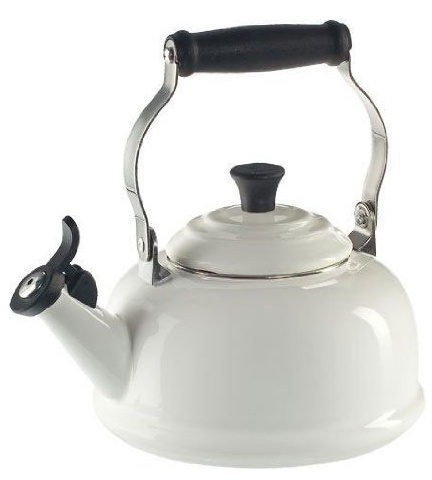 White Le Creuset Tea Kettle