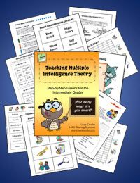 $ Teaching Multiple Intelligence Theory: Step-by-Step Lessons for the Intermediate Grades - Excellent back to school unit for grades 4 - 6