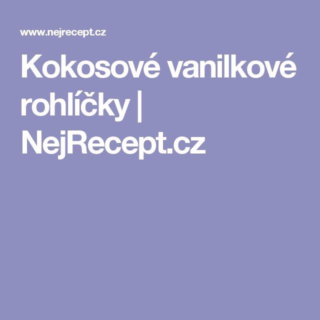 Kokosové vanilkové rohlíčky | NejRecept.cz