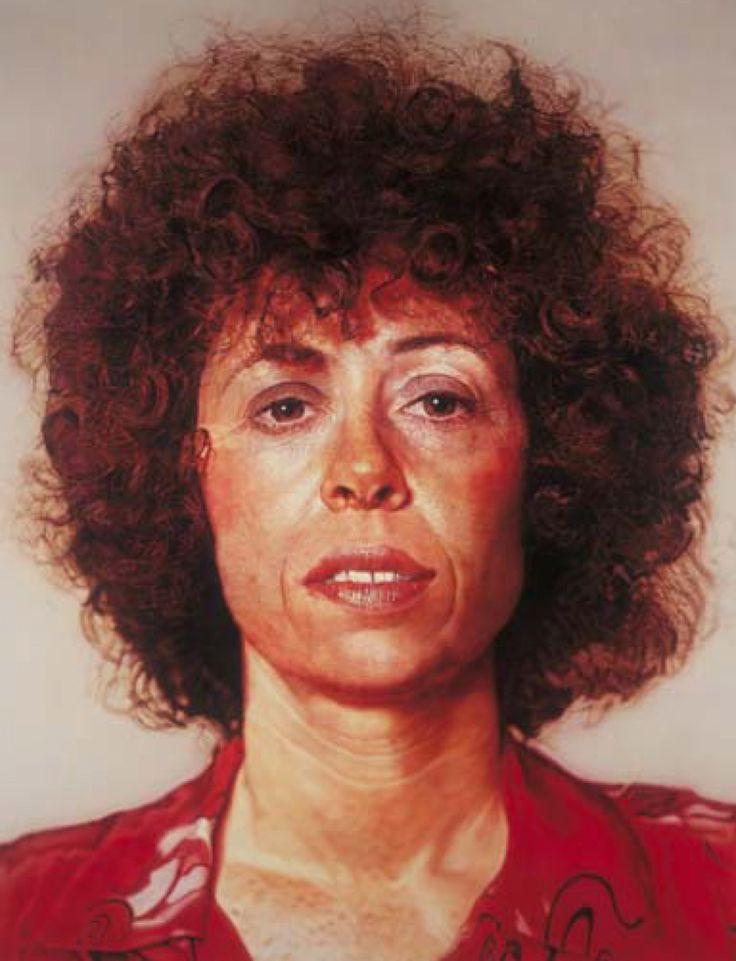 how to paint a chuck close portrait